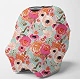 Nursing Cover Multi Use Breastfeeding Scarf - Baby Car Seat Covers, Infant Stroller Cover, Carseat Canopy for Girls and Boys