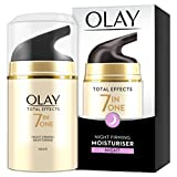Olay Total Effects 7-in-1 Anti Ageing Night Firming Moisturiser with Niacinamide, Vitamin C and...