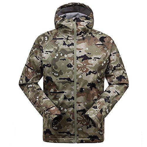 GSOU SNOW Men's Softshell Warm Fleece Hoodie Jacket Lightweight Full Zip Up...