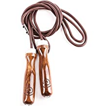 Jump Rope - Premium Jump Rope Golden Stallion for Genuine Jump Rope Workout Experience - Gain More Energy and Get Better Body Shape with Weighted Jump Rope - Wooden Handles - Adjustable Leather Jump Rope - High Quality Ball Bearings - Ideal As a Crossfit Jump Rope - Maximalize Your Jump Rope Workout Now!