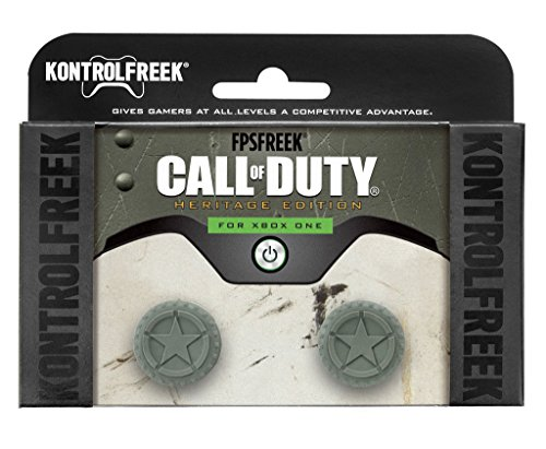 KontrolFreek FPS Freek Call of Duty WWII Heritage Edition for Xbox One Controller | 2 Performance Thumbsticks | 1 Mid-Rise, 1 High-Rise Concave | Green