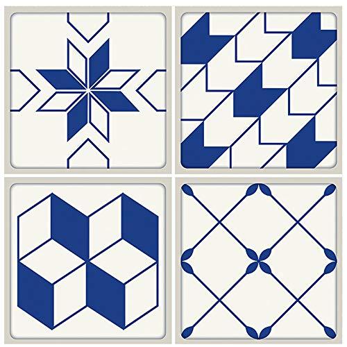 (Springdoit 5050cm Moroccan Style Tile Wallpaper, Creative PVC Non-Slip Twill Wall Mural Artist Decoration (#3))