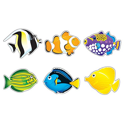 TREND enterprises, Inc. Fish Friends Classic Accents Variety Pack, 36 ct Bulletin Board Decorations