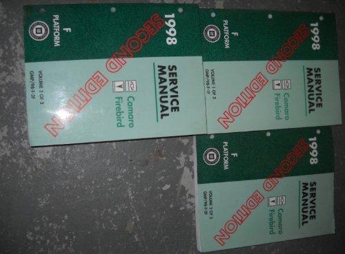 1998 Pontiac Firebird Service Shop Repair Manual Set (3 volume service manual set, and the service manual supplement.)