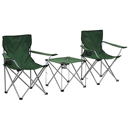 Festnight Juego de Muebles para Camping 3 Piezas | 1 x Mesa ...