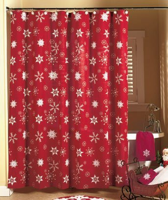 Red Curtains amazon red curtains : Amazon.com: Creative case Santa Claus 100% Polyester Fabric Shower ...