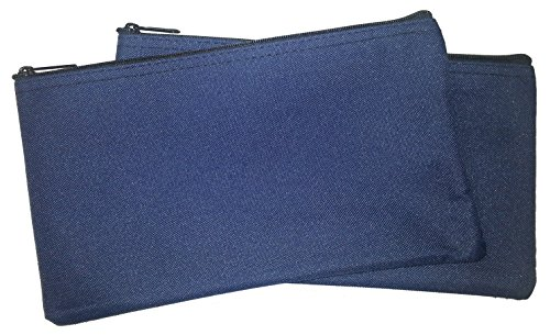 Zipper Bags Poly Cloth Value Package of 2 Bags Navy Blue