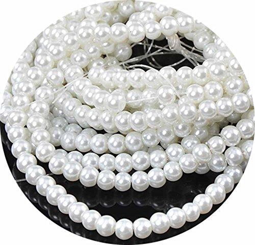 6mm Czech Glass Pearl Beads - 5