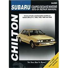 Subaru: Coupes/Sedans/Wagons 1970-84