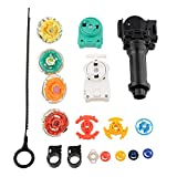 Hestio New 4D Fusion Top Metal Master Rapidity Fight Rare Beyblade Launcher Grip Set
