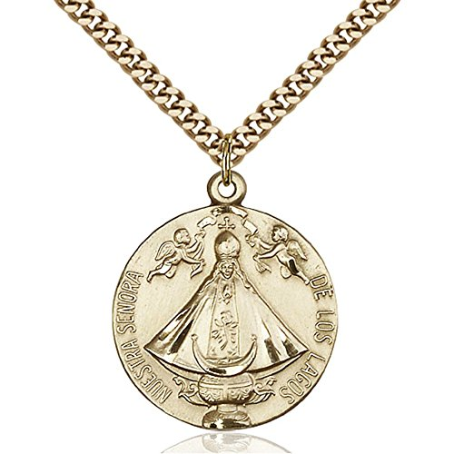 gold-filled-senora-de-los-lagos-pendant-1-x-7-8-inches-with-heavy-curb-chain