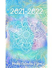 2021-2022 Pocket Calendar: 24-Month JANUARY 2021 - DECEMBER 2022 | Two-Year Monthly Planner for Purse | Small Agenda Schedule | Organizer Notebook | Daily Time Management with Watercolor Mandala Design