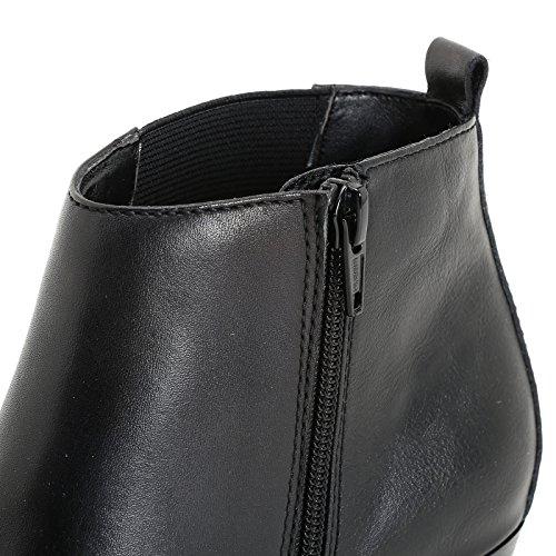 Leder Absatz Seitlichem Stiefeletten Scarpe mit Seval Gummizug amp;Scarpe und Schnalle Marina XqHv7Tn