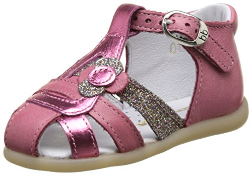 babybotte Glitter - Zapatos de primeros pasos Bebé-Niños Rose (Rose Framboise/Glitter)