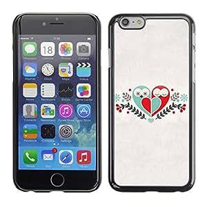 CaseCaptain Carcasa Funda Case - Apple Iphone 6 PLUS 5.5 / Cute Birds & Heart Love /