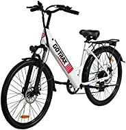 GOTRAX Endura 26inch Electric Bike with 36V 7.5Ah Removable Battery, 250W Powerful Motor up 15.5mph, Shimano P