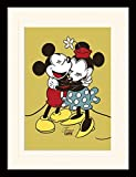 Mickey Mouse Framed Collector Poster - Mickey & Minnie Mouse, True Love (16 x 12 inches)
