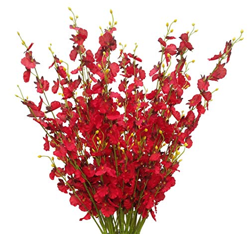 Artificial Flowers Orchids Silk Fake Flowers in Bulk, 12 Pcs (Each 38.5