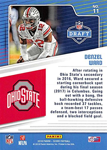 Amazon.com  2018 Score NFL Draft  11 Denzel Ward Ohio State Buckeyes  Football Card  Collectibles   Fine Art 8d860603e
