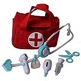 Lil' Doctor Medical Play Set, 8 Pcs, Blue & Doctor Medical Bag (red)