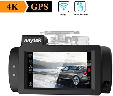 WIFI Car Dash Cam 4K with GPS, Anytek Touch Screen Dashboard Camera Recorder Ultra HD 2160p 2.7 inches LCD 170 Wide Angle Video Recorder Camera,WDR,G-Sensor,Loop Recording,Super Capacitor G200