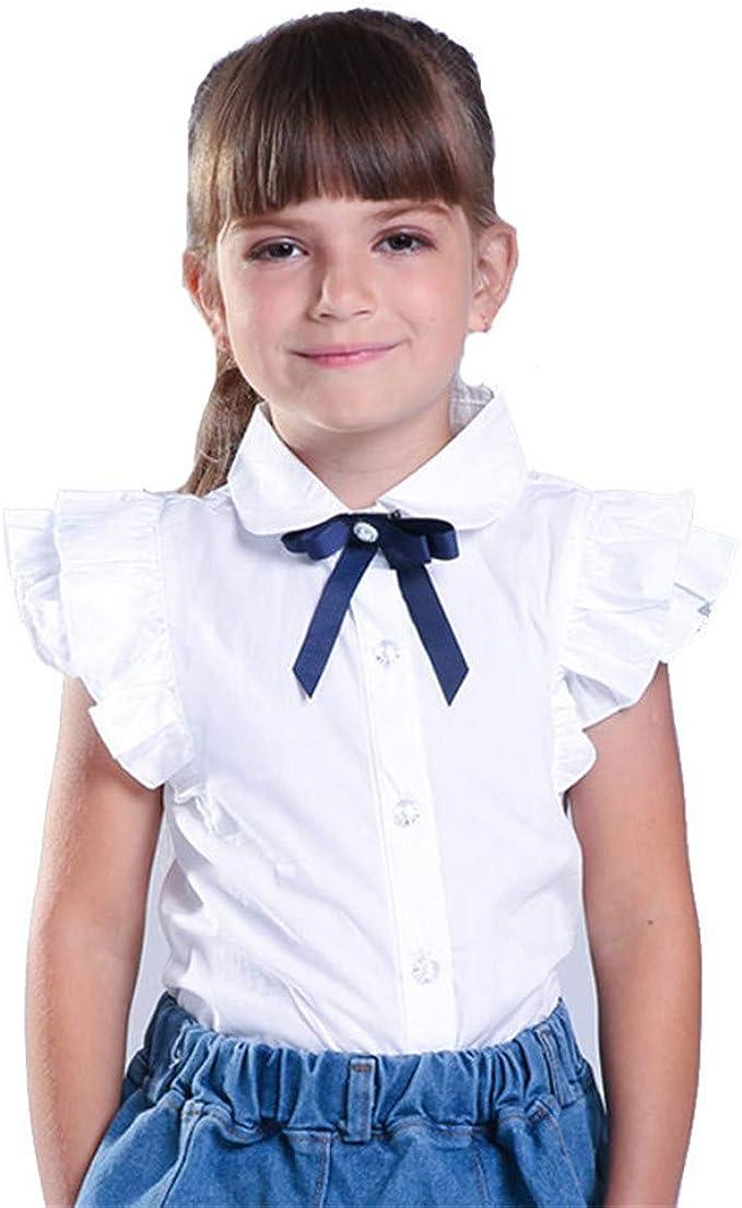 adasideng - Camisa de Manga Corta para niña, diseño de Lazo - - 3 años: Amazon.es: Ropa y accesorios