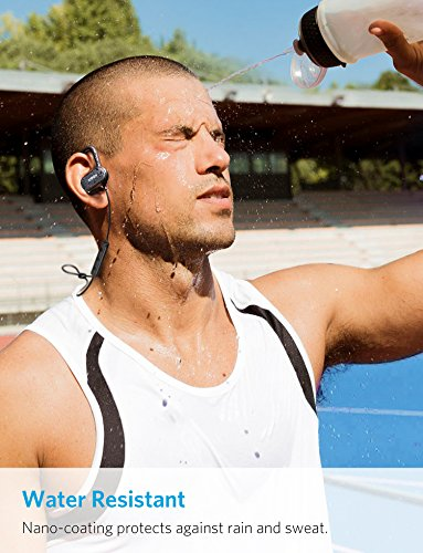 Anker SoundBuds Curve Wireless Earbuds, Bluetooth 4.1 Sports Earphones w/ Ear Hook and Waterproof Nano Coating, 14hr Battery, CVC Noise Cancellation, Gym and Running Workout Headset w/ Pouch