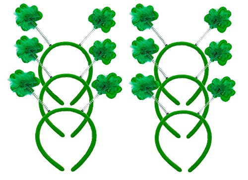 Tutu Dreams 6 Pcs Shamrock Clover Headbands for