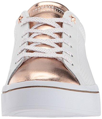 Hi Toe Skechers gold Lite rose Metallic Women's Street white 4wWxvqRz