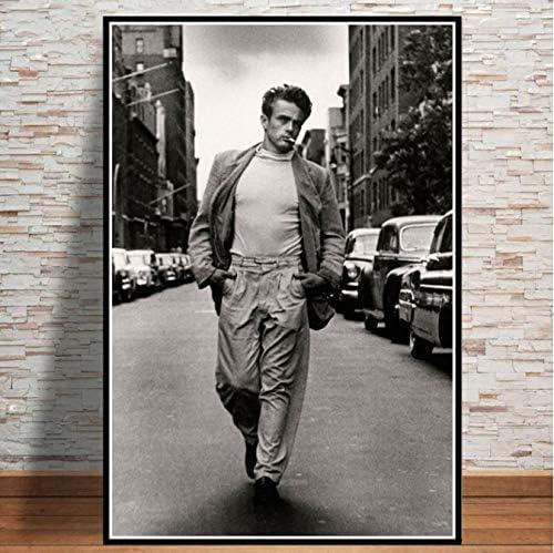 LGXINGLIyidian James Dean P/óster E Impresiones De La Pel/ícula Actor Star Black White Paintings Wall Art Canvas Art Wall Pictures para La Decoraci/ón del Hogar N385 40X50Cm