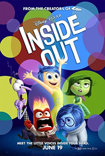 Inside Out Movie Poster 2 Sided Original Final Disney