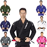 Elite Sports New Item IBJJF Ultra Light BJJ Brazilian Jiu Jitsu Gi w/Preshrunk Fabric & Free Belt (Black, A2)