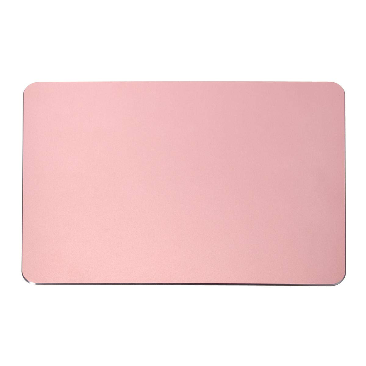 240x170x3mm Luxury Aluminum Alloy Non-Slip Rubber Base Waterproof Mouse Pad - Keyboards & Mouse Mouse pads - (Rose Gold) - 1 240x170x3mm Luxury Aluminum Alloy Non-Slip Rubber Base Waterproof