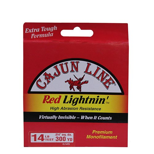Cajun Red Lightnin Fishing Line - 300 yds. Zebco Cajun Red Lightnin' Monofilament Line, 14 LB