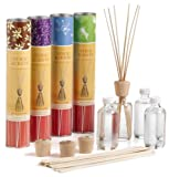 : Stick Scents 4-Count Variety Pack Reed Diffusers (Sea Petal, Morning Dew, Lavender Fields, Vanilla Bean), 4-Ounce Packages