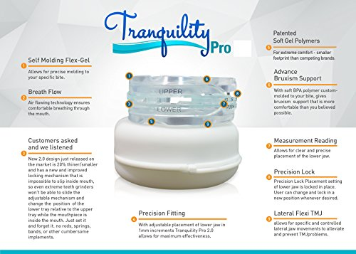 Tranquility Pro 2 Adjustable Bruxism Night Mouthpiece Sleep Mouthguard Mouth Guard Aid by Pro Tech Dental (Image #1)