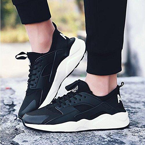 Formation sport Printemps EU40 Sneakers YIXINY Hommes UK7 Chaussures CN41 Chaussures Air De Pour Course Chaussures Sports Noir Loisirs Plein Couleur Blanc Basketball De de taille TTqw1aExA
