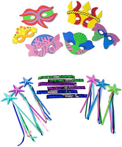 12 Pieces Fun Express Mermaid Princess Wand Party Favor Decorations