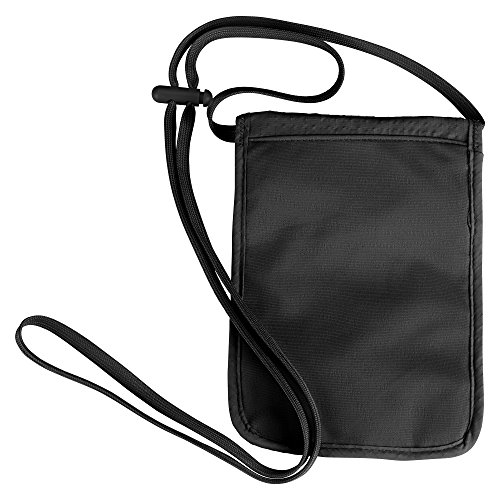 Lewis N. Clark RFID-Blocking Neck Stash Anti-Theft Hidden Wallet, Black, One Size