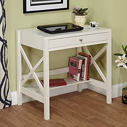 Amazoncom Perfect Trestle Desk White Is A Small Corner Computer