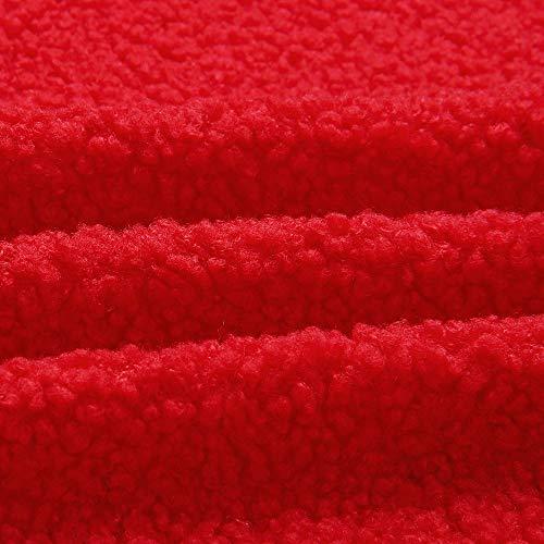 Colore Tunica Morbido Capispalla Puro Jersh Cappotto Warm Donne Esterno Cappotto Giacca Manica Rosso Incappucciato Top Allentato Cappotto Cerniera up v18AOc8