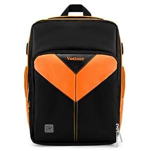 Vangoddy VGSpartaORG Sparta DSLR Camera Bag with Customizable Interior (Black/Orange)