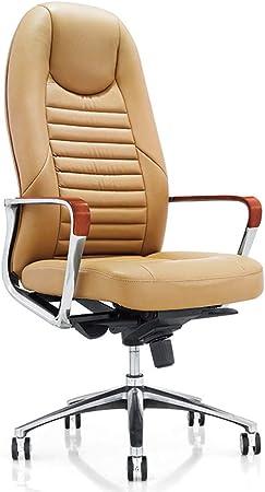 LXTX Leather Stripe esecutivo sedie Gialle Regolabile casa