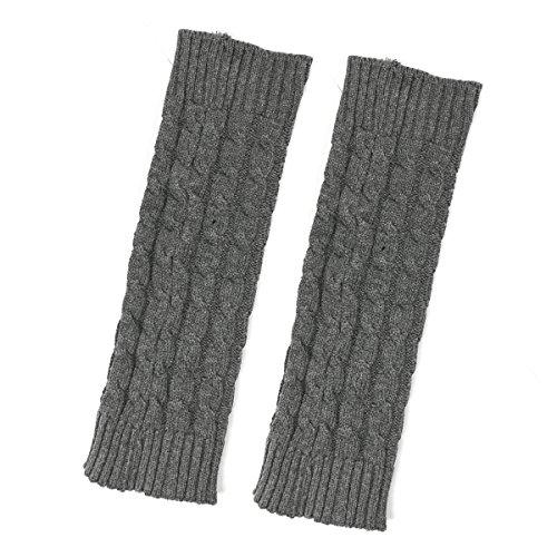 Babylegs Pattern - Bowbear Little Girls Cable Knit Leg Warmers, Gray