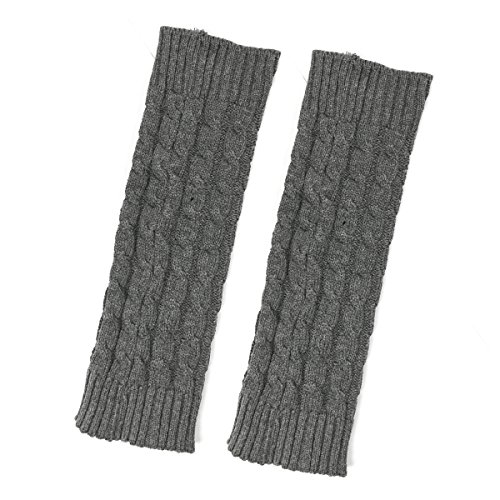 (Bowbear Little Girls Cable Knit Leg Warmers, Gray )