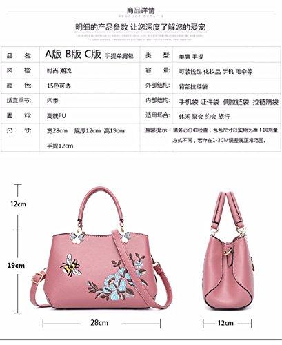 Las púrpura de Moda CCZUIML Nuevo Rosado de B Hombro de la Bag Bolso Mujeres wHnCxqHtzP