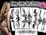 Tribal Lower Back Temporary Tattoos