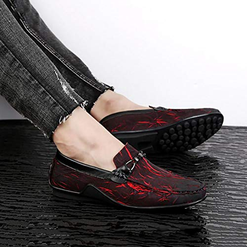 Scarpe Da amp; Mocassini Autunno Uomo Casual ONS Comfort FHTD Office E Primavera Da Party Large Size Carriera Guida Slip Scarpe Red ZIY5xxqv