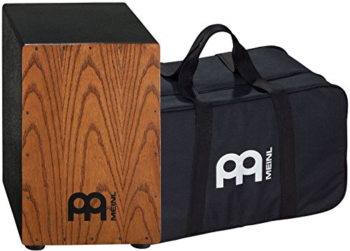 Meinl Percussion HCAJ1AWA+BAG Headliner Series Stained American White Ash String Cajon with Bag