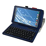 """Insignia NS-P08A7100 Bluetooth Keyboard Case,Mama Mouth Slim Stand PU Leather Case Cover With Romovable Bluetooth Keyboard For 8"""" Insignia Flex NS-P08A7100 Andriod 6.0 Tablet 2016,Blue"""